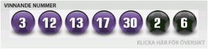 Euromillions lotteri dragning for sverige